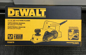 "Dewalt D26676 3-1/4"" Hand Planer NEW"
