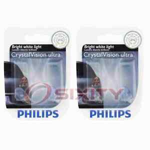 2 pc Philips License Plate Light Bulbs for Fiat 124 Spider 500L 500X Bravo bd