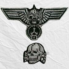 Set Motorhead Replica German Hat Embroidered Patches Lemmy Kilmister Uniform