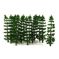 Lot 20 Fir Trees Model Train Railway Diorama Street Scenery Layout HO OO 9cm