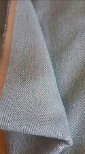 * cieco romano-tessuto spigato blu fatte fino a 136cm di larghezza x 181cm DROP *