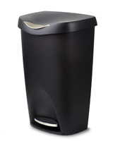 Umbra Brim Large Garbage Trash Can Stainless Steel Foot Pedal Stylish 13 Gallon
