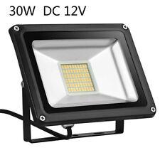 30W LED Flood Light Warm White Outdoor Yard Spotlight Lamp Floodlight DC12V US