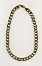 "20"" 14KT GOLD EP 12MM  CUBAN-CURB BLING HIP HOP CHAIN NECKLACE"