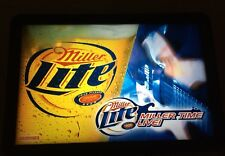 "Miller Time Live Lite Beer Music Light Guitar Bar Sign Promo 24"" Rare NOS"