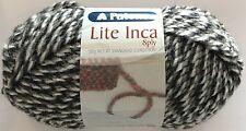 5 x Balls - Patons Lite Inca 8ply - 70% Wool-Alpaca - White Black #002 - $20.00