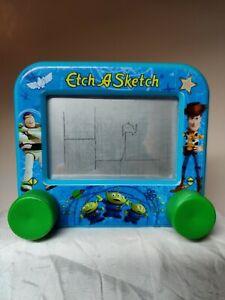 """TOY STORY ~ETCH A SKETCH ~Miniature ~Disney ~3.75"""" x 3"""" ~Mini ~Woody ~Buzz alien"""