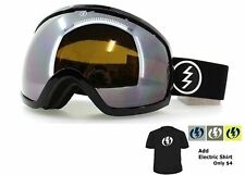 NEW Electric EG2 Black Silver Mirror Oversized ski snowboard goggles Msrp$160