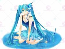 Manga Anime Vocaloid Hatsune Miku Long cheveux bleus Puddle Poster print LV10070