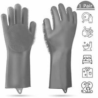Gloves Kitchen Silicone Cleaning  Dish Washing Household Scrubber Rubber Tool