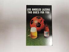 Los Angeles Lazers 1984/85 MISL Indoor Soccer Pocket Schedule Card - Budweiser