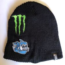 Rare Beanie Neff Monster Energy Dirt Shark Athlete Only