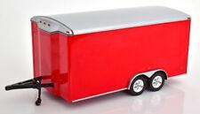 1:18 Ertl/Auto World Car Trailer closed red/silver