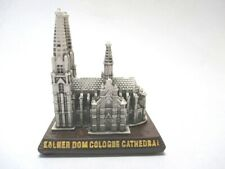 Cologne Cathedral Cologne Souvenir Poly Model Germany 2 5/8in Wooden Base