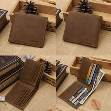 Men's Leather Clutch Pockets Wallet ID Bifold Business Credit Card Holder Purse
