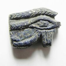 ZURQIEH -B2C- ANCIENT EGYPT - RARE LAPIS LAZULI EYE OF HORUS  , 1075 - 600 B.C