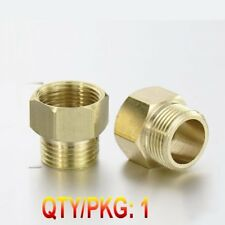 """Pipe Fitting 1/2"""" NPT Male to Metric M22 M22X1.5 Female Brass Adapter N-JD5"""