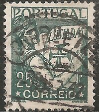 """Portugal Stamp - Scott #503/A101 25c Deep Green """"Luciads"""" Used/LH 1931"""