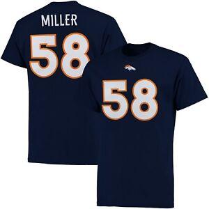 Denver Broncos Mens Von Miller Majestic Eligible Receiver T-Shirt - 3XL - NWT