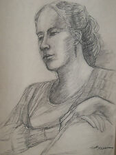 """""""PORTRAIT OF A GIRL"""" by Ruth Freeman CHARCOAL  13""""  X 16"""""""