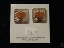 Beautiful Heart Shaped Copper and  Silver Jewelry Dangle Heart Earrings SALE