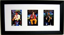 "GEORGE RODRIGUE NEW ORLEANS JAZZ FEST POSTER CARD TRIO - FRAMED - 22"" x 12"""