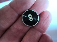 ART DECO CELLULOID OVERLAY  2 TONE BUTTON  BLACK / WHITE 5/8 INCH