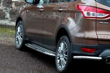 MARCHE-PIEDS X2 POUR FORD KUGA 2013- INOX DIA 48mn