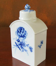 Frustenberg Lottine Blue Rose Porcalin Tea Caddy Germany