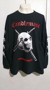Candlemass epicus long sleeve T shirt heavy doom metal pentagram saint vitus