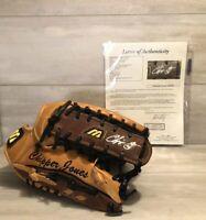 Chipper Jones Thank You Signed Autographed Baseball Glove JSA COA