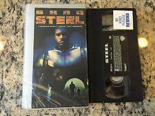 Steel Rare Oop Vhs! 1997 Shaq Shaquille O'Neal, Judd Nelson Superhero Action Htf