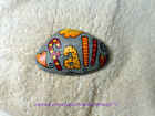 Hand Painted Rock Stone Art - FALL  Leaves Autumn RED Yellow Orange WORD