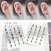NO EAR HOLE CRYSTAL Ear Clip Strong MAGNET Iron Ear Stud Unisex Earrings 12Pairs