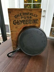 Antique ERIE Pre Griswold #8 Cast Iron Skillet 2nd Series Restored