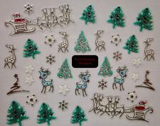 Adesivi per unghie MANICURE NATALE nail art 3D CHRISTMAS stickers ORO o ARGENTO