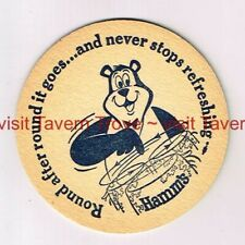 "1960s ""Round And ROund It Goes"" Bear HAMM'S BEER 3½"" Tavern Trove"