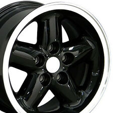 "15"" Wheels For Jeep Grand Cherokee Wrangler 15x8.0 Inch Black Rims Set of Four"