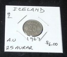 #2 (ALMOST UNCIRCULATED) 1967 Iceland 25 Aurar Coin