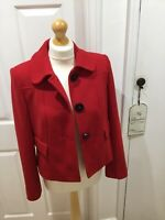 Marks & Spencer Ladies Size 12 Fully Lined Red Jacket Blazer