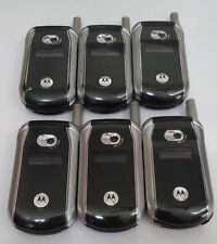 Lot of 6 Motorola V266 UNKNOWN CARRIER All Cell Phones Power Up