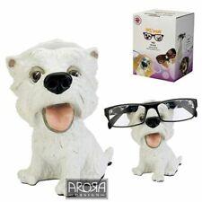 OptiPaws Westie Dog Glasses Holder Figurine West Highland Terrier Specs Puppy