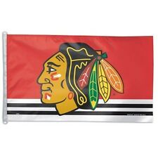 Chicago Blackhawks ~ Official Nhl Large 3x5 Foot Polyester Flagpole Flag ~ New!