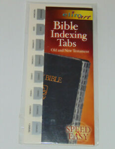 Bible Indexing Tabs, Old & New Testament, Silver Color, Elim Books & Stationery