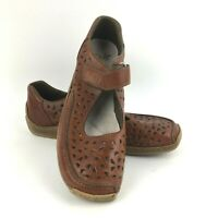Rieker Anti Stress Shoes Women's Size 40 Slip On Casual Mary Jane Brown