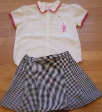 NEW 2pc GYMBOREE Head Of The Class OUTFIT Blouse Shirt Top Skort Size XL 6 NWT