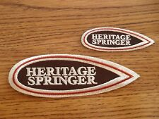 Harley Davidson Heritage Springer FLSTS Custom Embroidered Patches-Very Unique!!
