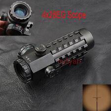 4x28EG Reticle  Scope Sight 20mm/11mm Picatinny Rail for Rifle Adjustable