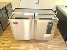 Back Bar Bottle Beer Cooler New Stainless 50� Refrigerator 4' Slide Top 2 Door