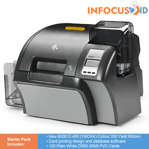 Zebra ZXP Series 9 Retransfer ID Badge Printer Dual Sided With Starter Pack